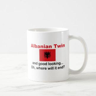 Good Looking Albanian Twin Classic White Coffee Mug