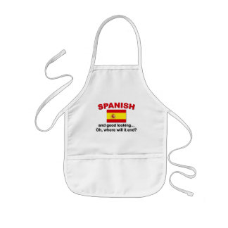 Good Looking and Spanish Kids' Apron