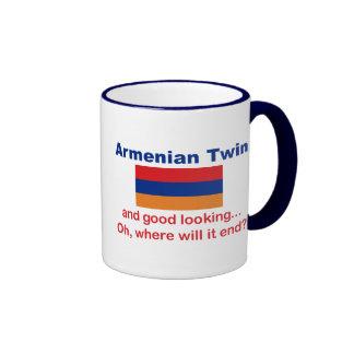 Good Looking Armenian Twin Ringer Coffee Mug