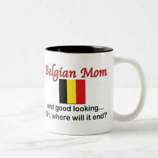 Good Looking Belgian Mom Two-Tone Coffee Mug