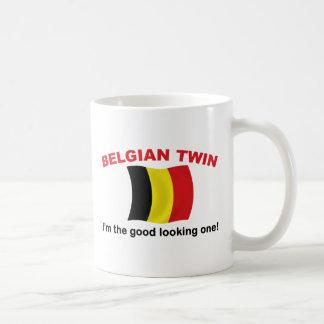 Good Looking Belgian Twin Classic White Coffee Mug