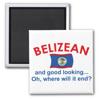 Good Looking Belizean 2 Inch Square Magnet