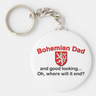 Good Looking Bohemian Dad Keychain