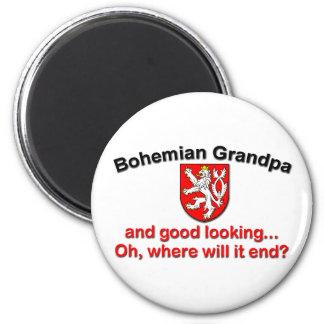 Good Looking Bohemian Grandpa 2 Inch Round Magnet