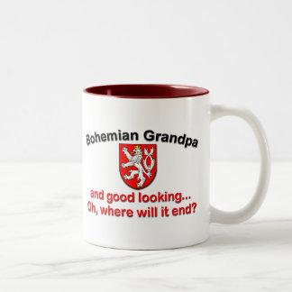 Good Looking Bohemian Grandpa Two-Tone Coffee Mug