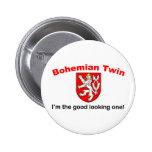 Good Looking Bohemian Twin Pinback Button
