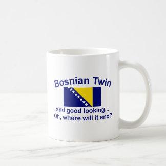 Good Looking Bosnian Twin Classic White Coffee Mug