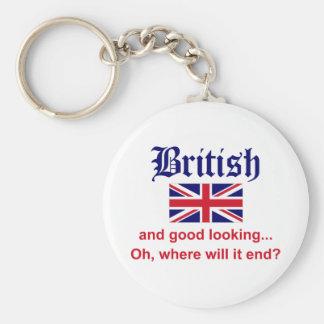 Good Looking British Basic Round Button Keychain