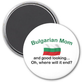 Good Looking Bulgarian Mom 3 Inch Round Magnet