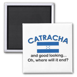 Good Looking Catracha (Honduran) 2 Inch Square Magnet