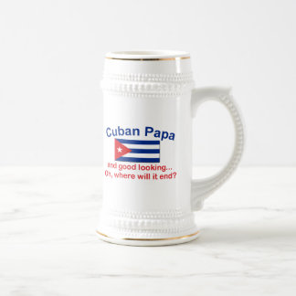 Good Looking Cuban Papa Beer Stein
