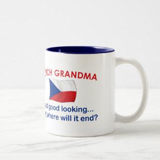 Good Looking Czech Grandma Two-Tone Coffee Mug