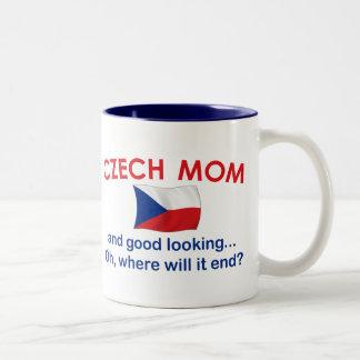Good Looking Czech Mom Two-Tone Coffee Mug