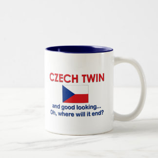 Good Looking Czech Twin Two-Tone Coffee Mug