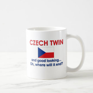 Good Looking Czech Twin Classic White Coffee Mug
