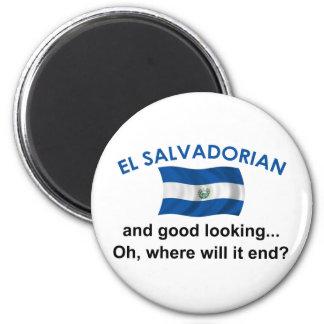 Good Looking El Salvadorian 2 Inch Round Magnet