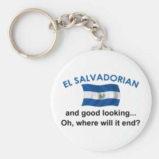 Good Looking El Salvadorian Basic Round Button Keychain