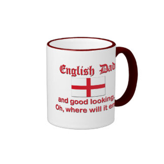Good Looking English Dad Ringer Mug