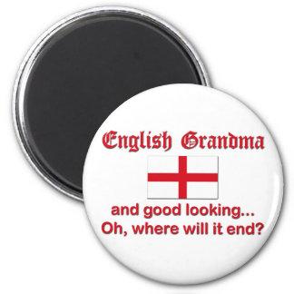 Good Looking English Grandma Fridge Magnet