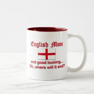 Good Looking English Mom Two-Tone Coffee Mug