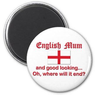 Good Looking English Mum Fridge Magnets