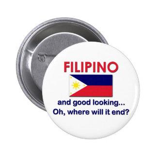 Good Looking Filipino Pinback Button