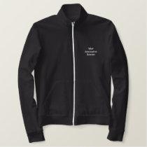 Good-looking fleesjacka embroidered jacket