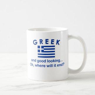 Good Looking Greek Coffee Mug