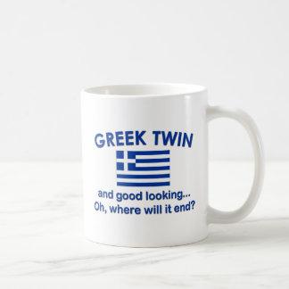 Good Looking Greek Twin Classic White Coffee Mug