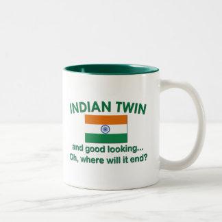 Good Looking Indian Twin Two-Tone Coffee Mug