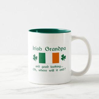 Good Looking Irish Grandpa Two-Tone Coffee Mug