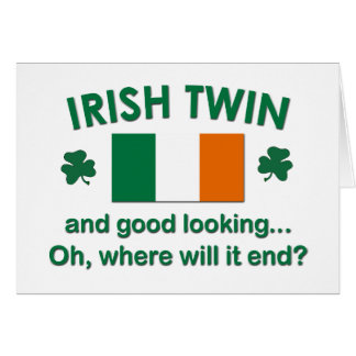 Good Looking Irish Twin Card