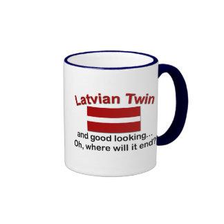 Good Looking Latvian Twin Ringer Coffee Mug