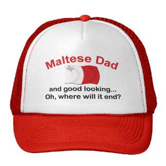 Good Looking Maltese Dad Trucker Hat