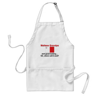 Good Looking Maltese Grandpa Adult Apron