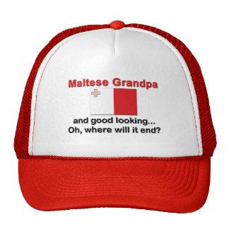 Good Looking Maltese Grandpa Trucker Hat
