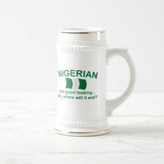 Good Looking Nigerian 18 Oz Beer Stein