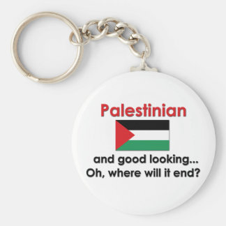Good Looking Palestinian Basic Round Button Keychain