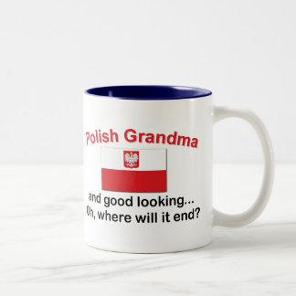 Good Looking Polish Grandma Two-Tone Coffee Mug