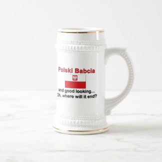 Good Looking Polski Babcia (Grandmother) Beer Stein