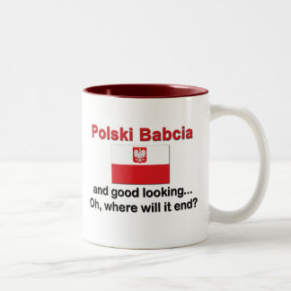 Good Looking Polski Babcia (Grandmother) Two-Tone Coffee Mug
