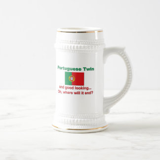 Good Looking Portuguese Twin Beer Stein