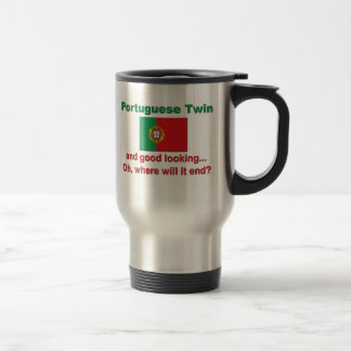 Good Looking Portuguese Twin 15 Oz Stainless Steel Travel Mug