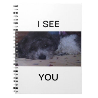 """Good Looking Puppy """"I see You"""" Notebook"""