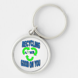 Good Looking Recycling Keychain