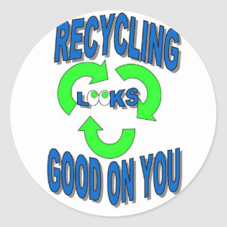 Good Looking Recycling Stickers