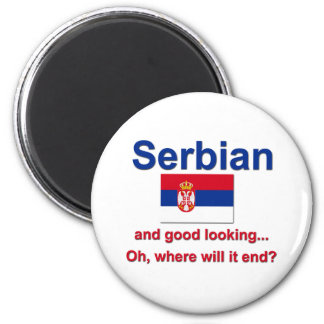 Good Looking Serbian 2 Inch Round Magnet