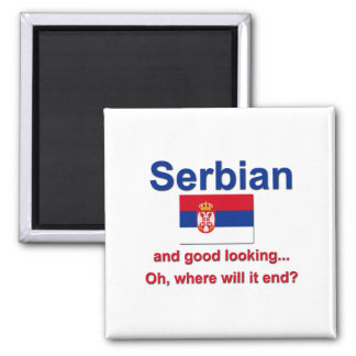 Good Looking Serbian 2 Inch Square Magnet