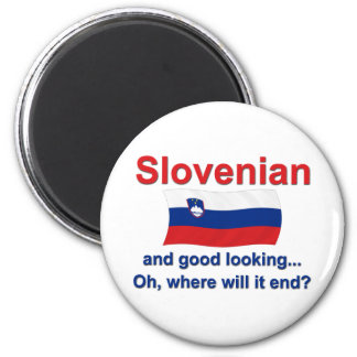 Good Looking Slovenian 2 Inch Round Magnet