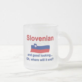 Good Looking Slovenian Frosted Glass Coffee Mug
